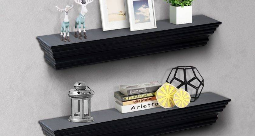 Homcom Floating Wall Shelf Ledge Mounted Display