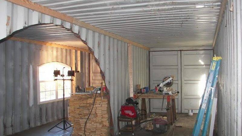 Home Built Two Shipping Containers Container