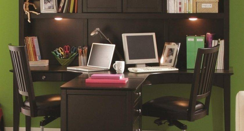 Home Design Surprising Two Person Desk Offices