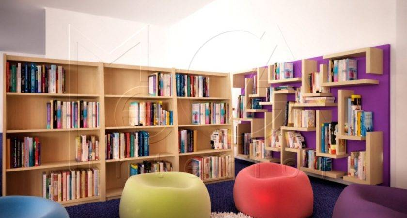 Home Library Neatly Modern House Design Ideas