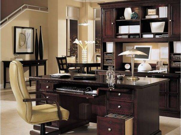 Home Office Layout Ideas Round