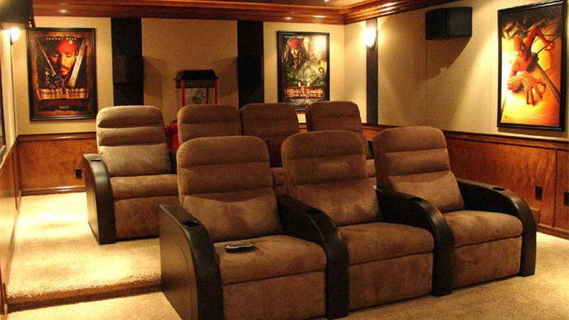 Home Remodeling Atractive Theater Rooms Decor Ideas