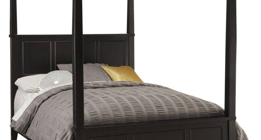 Home Styles Bedford Canopy Bed Black Beds Hayneedle