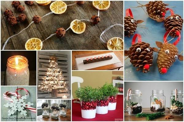 Homemade Eco Friendly Christmas Decorations Look