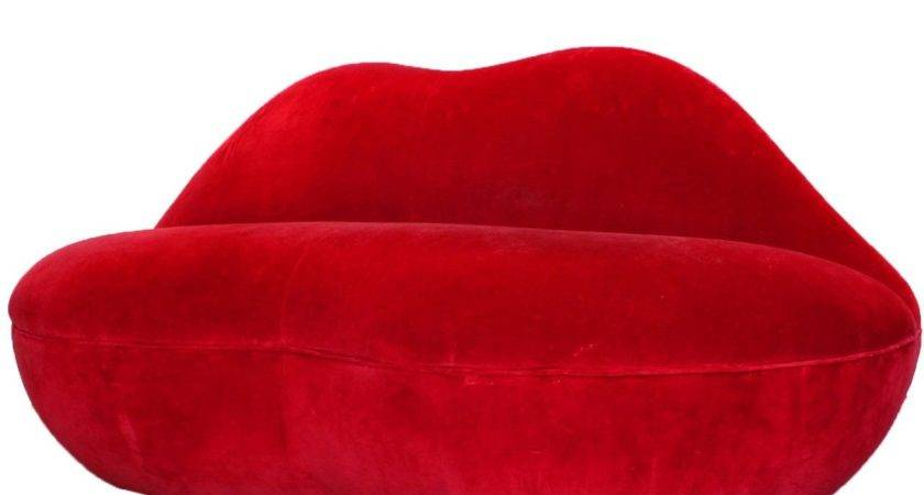 Hot Lips Red Sofa Stdibs