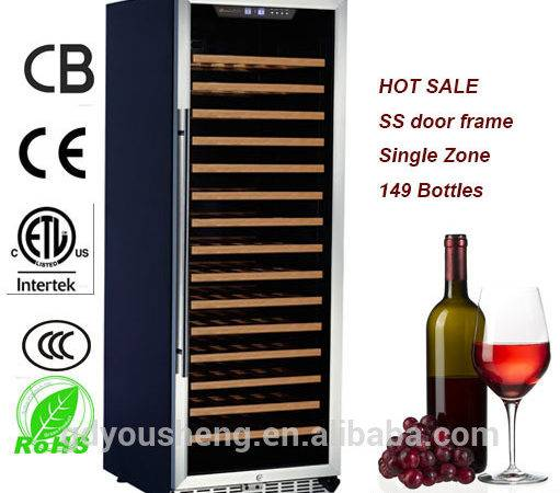 Hot Sale Humidity Control Wine Cooler Pcs Beech Shelves