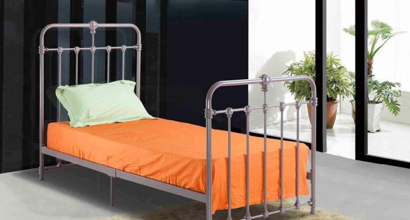 Hot Sale Single Iron Bed Cool Grey Color Buy