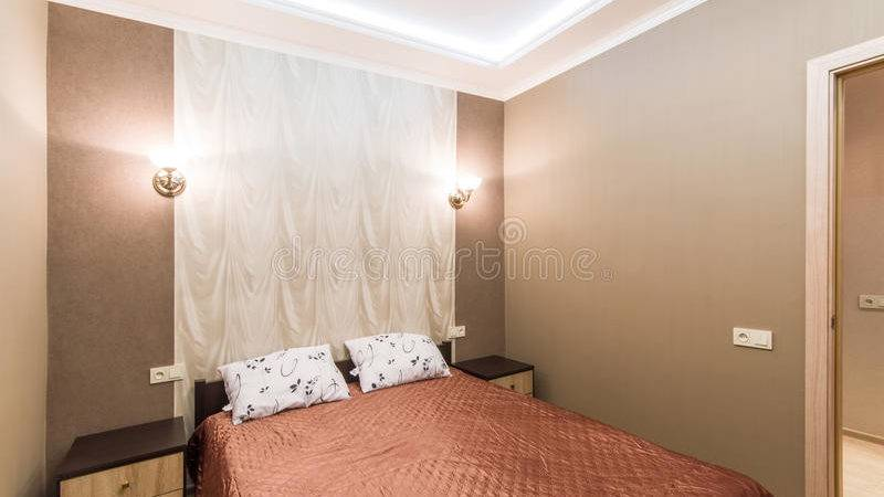 Hotel Room Small Bedroom Double Bed