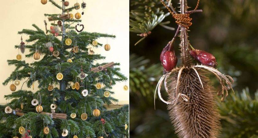 House Design Natural Christmas Tree Decorations