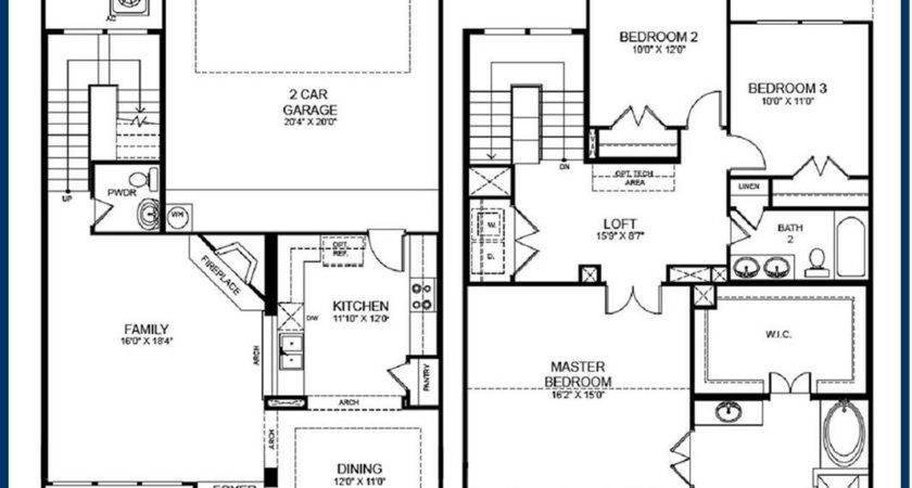 House Plans Story Home Deco Plan Two Ranch Style Dashing