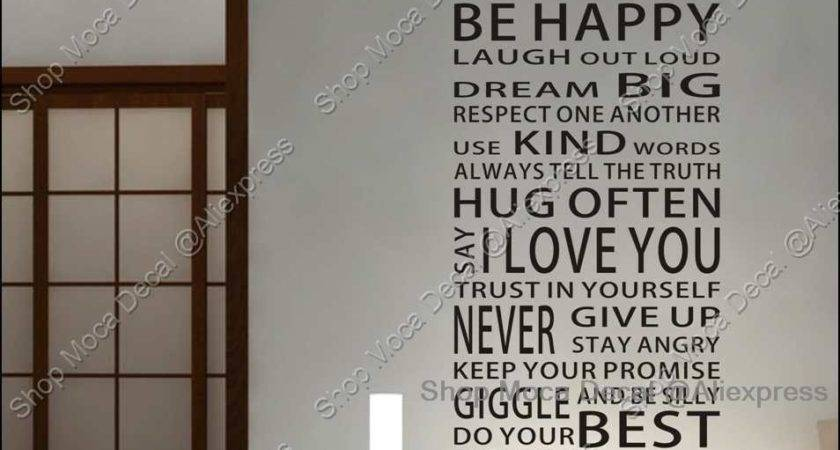 House Rules Quote Home Decoration Removable Wall