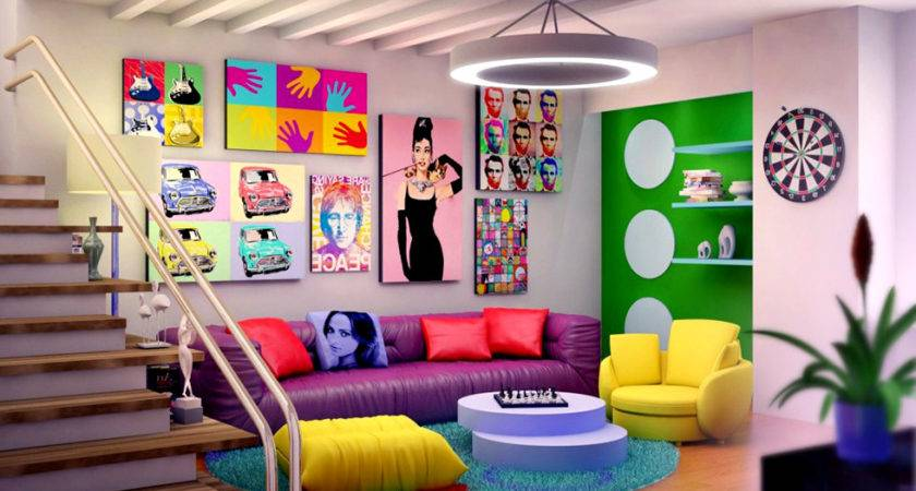 Iconic Vintage Pop Art Industrial Style