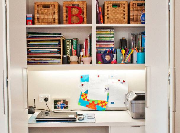 Ideas Brings Office Into Your Closets Small House