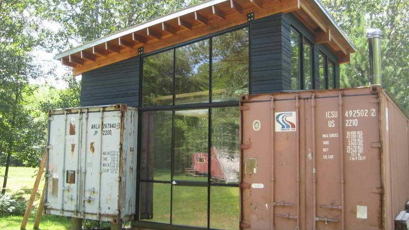 Ideas Steel Shipping Containers Homes Wood Ceiling