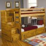Ideas Twin Over Bunk Bed Storage Modern