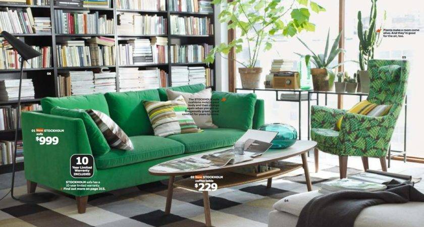 Ikea Green Living Room Interior Design Ideas