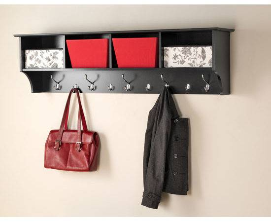 Inch Hanging Shelf Coat Hooks Wall Racks
