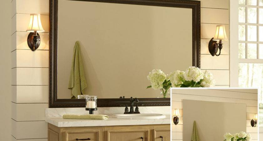 Incredible Large Framed Wall Mirrors Decorating Ideas