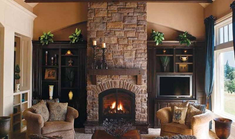 Indoor Classic Design Stone Fireplace