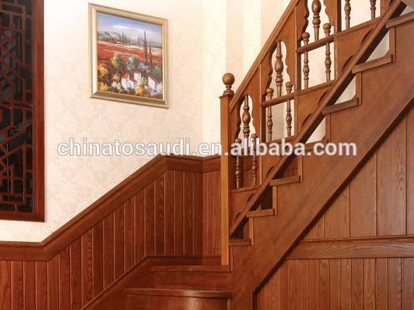 Indoor Interior Solid Wood Stairs Wooden Staircase Stair
