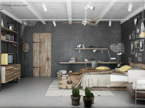 Industrial Bedrooms Interior Design Home