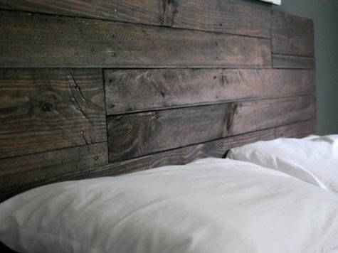 Industrial Elegant Reclaimed Wood Headboard Espresso