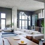 Industrial Loft Apartment Living Room Design