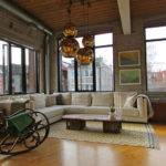 Industrial Loft Living Room Toronto