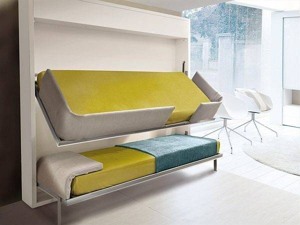 Innovative Lollisoft Bunk Pull Down Bed Giulio Manzoni