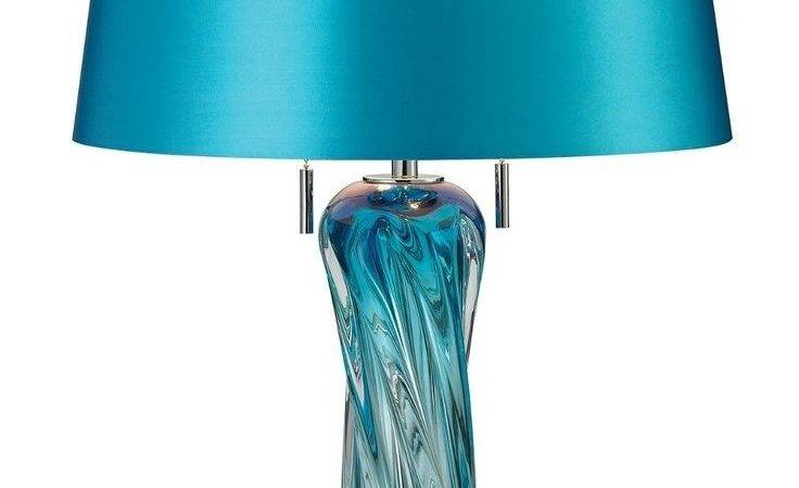 Inspirations Pretty Blue Table Lamp