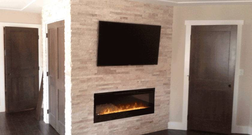 Inspiring Faux Stone Fireplace Surround