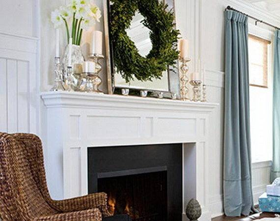 Inspiring Holiday Fireplace Mantel Decorating Ideas