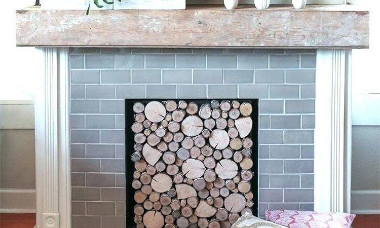 Insulated Fireplace Cover Pallet Wood Simple Crafts Diy