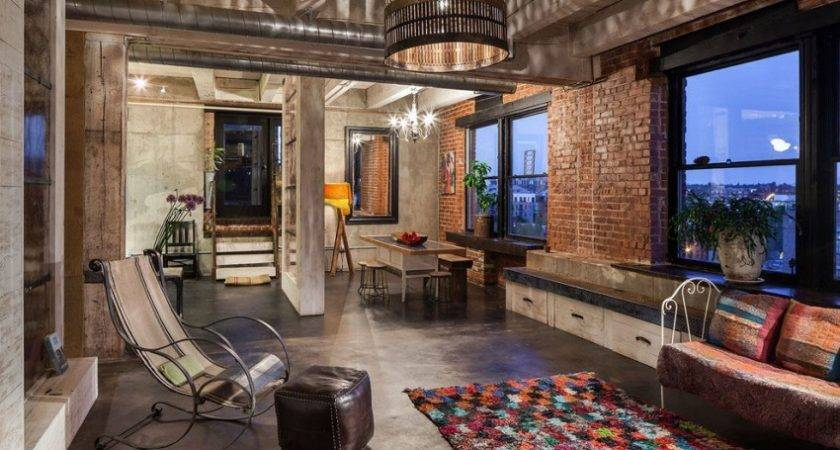 Intense Colorful Eclectic Industrial Home Design Located