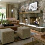 Interior Architecture Traditional Stone Fireplace