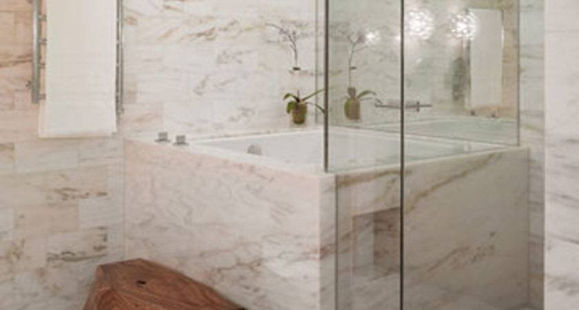 Interior Cool Small Bathroom White Marble Tile Wall