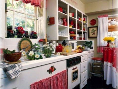 Interior Decorating Idea Red Kitchen Themes