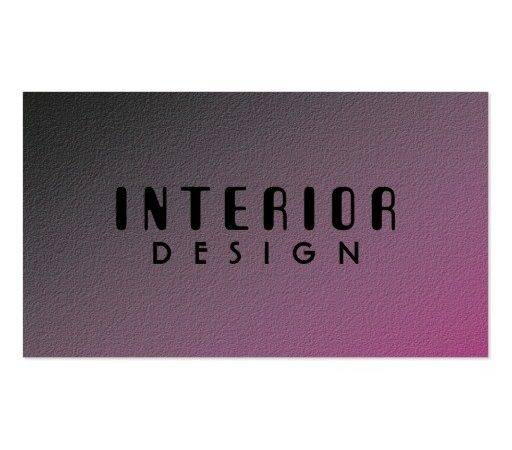 Interior Design Business Cards Zazzle