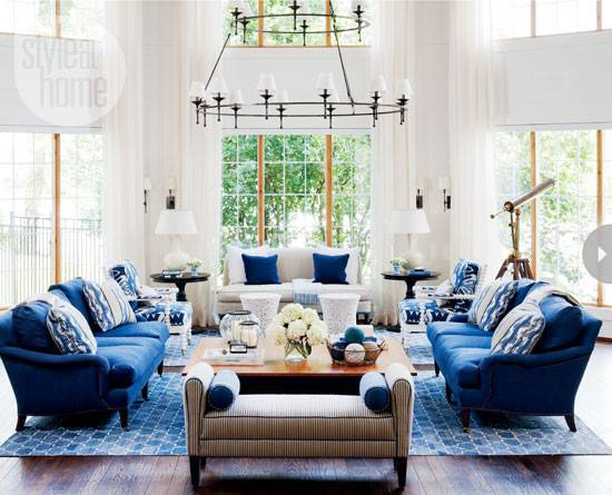 Interior Nautical Style Waterfront Cottage Home