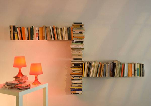 Invisible Teebooks Shelving System Mauro Canfori Home