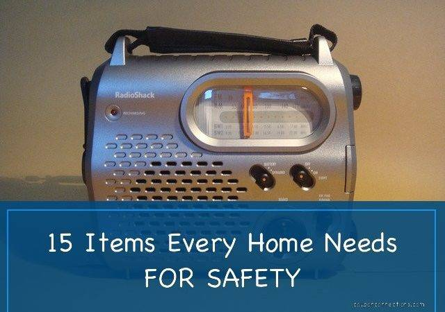 Items Every Home Needs Safety Coupon Connections