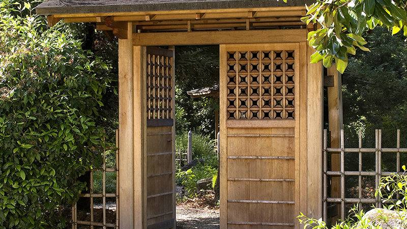 Japanese Gates Entrance Garden