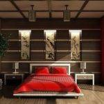 Japanese Style Bedroom Red Bedding Decoist
