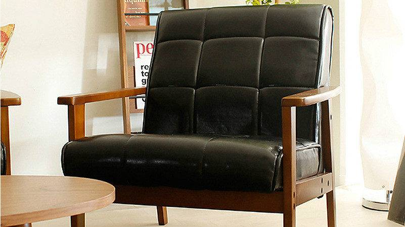 Japanese Style Furniture Solid Wood Leisure Chair Single