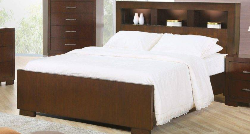 Jessica King Contemporary Bed Storage Headboard