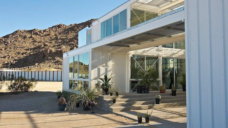 Jetson Green First Container House Mojave Desert