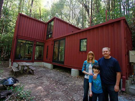 Jetson Green Shipping Container Cabin Woods