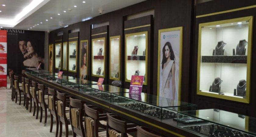 Jewellery Shop Design Architecture Brown Accent Wall