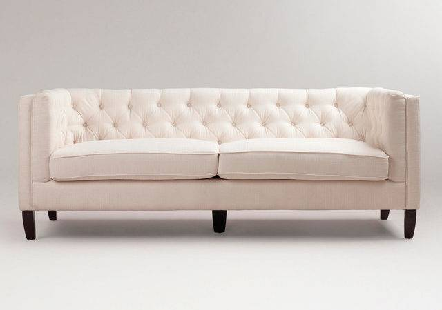 Kendall Ivory Sofa Traditional Sofas Cost Plus