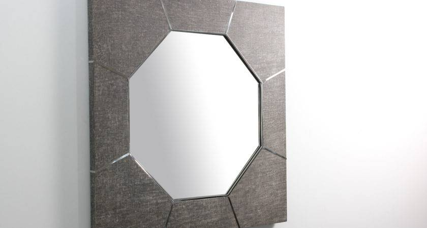 Keslo Mirror Charcoal Grey Linen Forwood Design